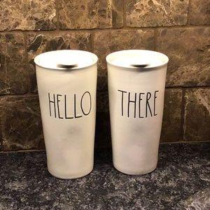 Rae Dunn travel coffee mugs, Hello There